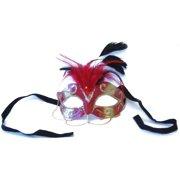 Tamire Costume Mask With Gold Chain: Red/Gold