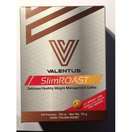 Valentus Slimroast Coffee Dark Italian Roast 24 Individual Packets