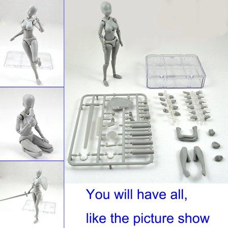 Lzndeal Action Figure Model Human Mannequin 2.0 Body Kun Doll Body-Chan Man Woman Action Figure Set for SHF Body Kun Doll PVC Body-Chan DX Set 2.0 - image 1 of 9