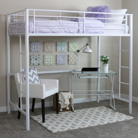 . Twin Metal Loft Bed   Black  Multiple Colors Available    Walmart com