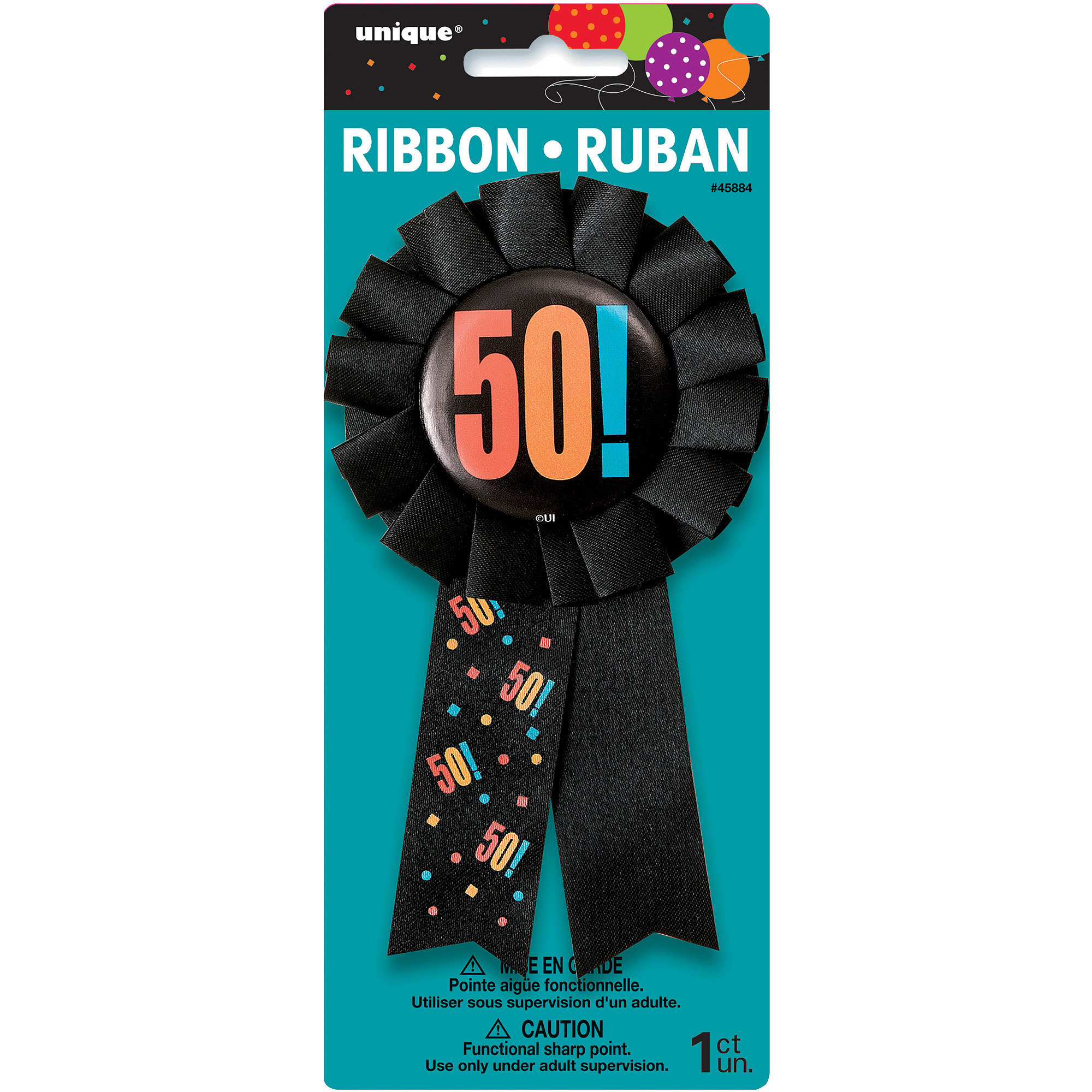 Birthday Cheer 50th Birthday Award Ribbon