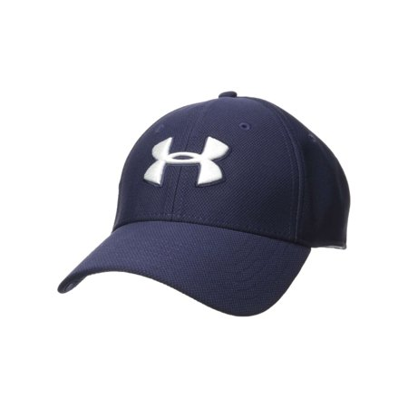 Under Armour Mens Men's Blitzing 3.0 Cap, Midnight Navy-Graphite-White, S/M (Under Armour Youth Cap)