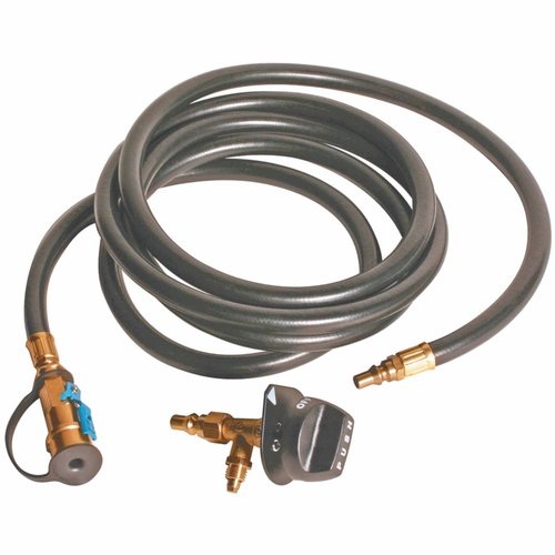 Camco 57638 Low Pessure Conversion Kit for Olympian 4100 Grill, Includes Quick Connect Grill Valve and 10' Hose