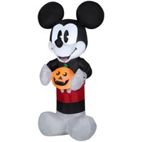 Airblown Inflatable Retro Mickey Mouse with Pumpkin 5ft tall