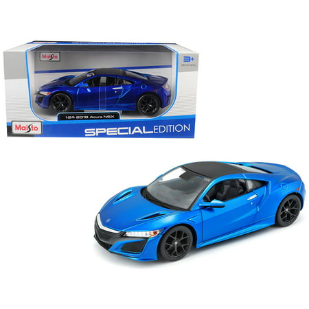 2018 Acura NSX Blue with Black Top 1/24 Diecast Model Car by Maisto ()