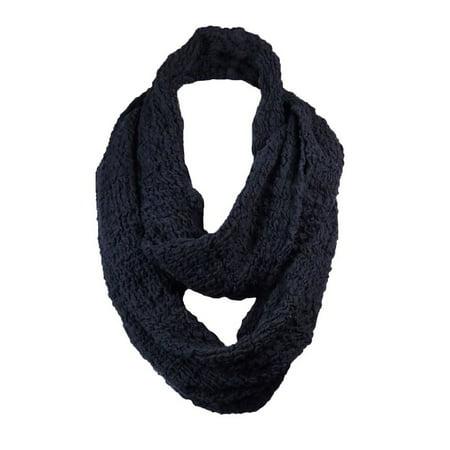 echo design echo design women 39 s textured stretch cloud stich infinity scarf os black. Black Bedroom Furniture Sets. Home Design Ideas