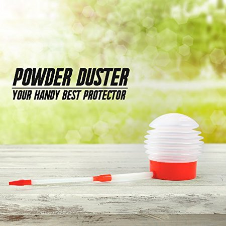 Insect and Ant Killer Pesticide Powder Duster, Pest Control Duster with Extension Nozzle - Bug Duster Evenly Dispenses Pesticide to Kill Bugs &