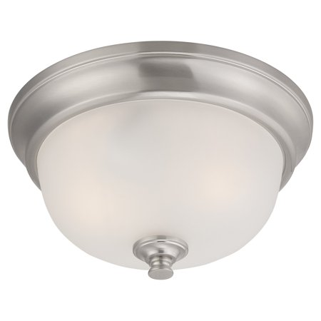 Elizabeth - 2 Light Flush Fixture w/ Frosted (Elizabeth Bath Fixture)