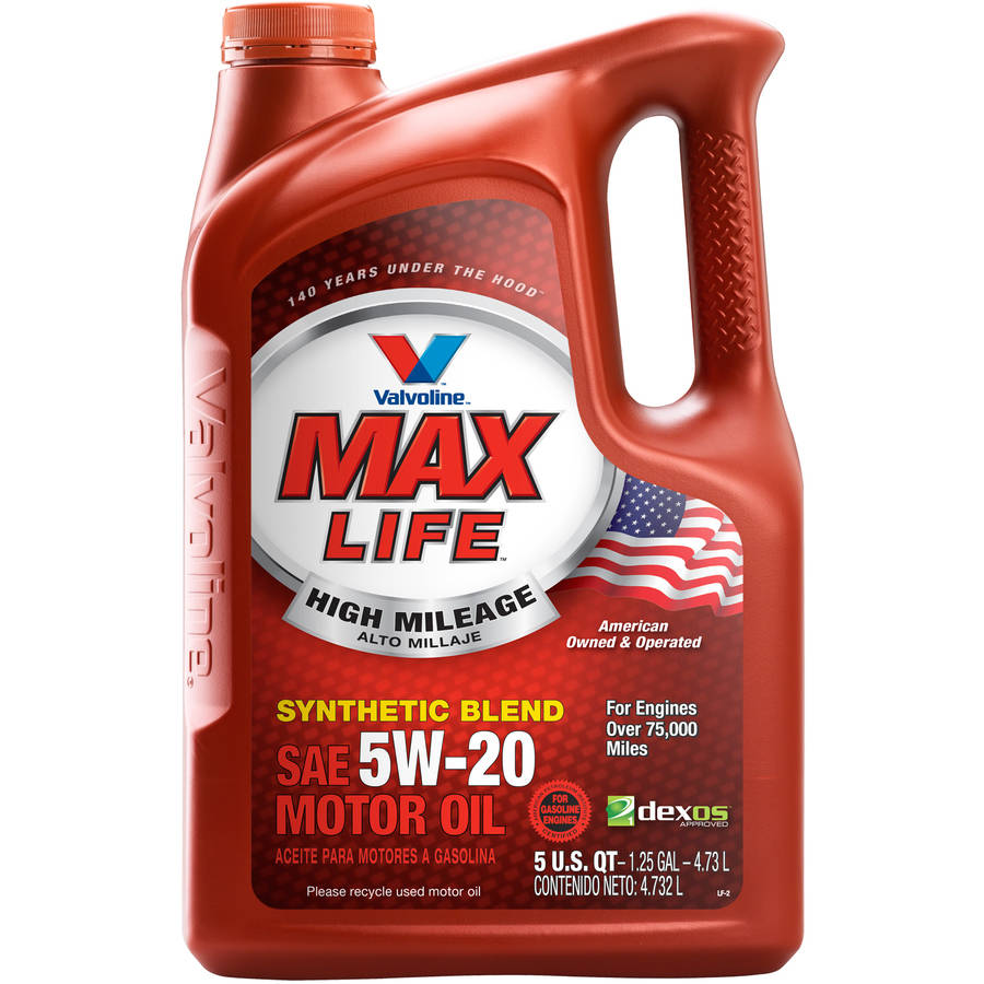 Valvoline MaxLife High Mileage 5W-20 Motor Oil, 5 Quarts