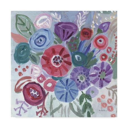 - Trademark Fine Art 'Floral Jewels I' Canvas Art by Farida Zaman