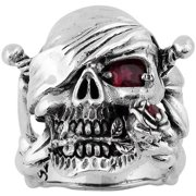Sterling Silver Decaying Joy Skull Ring 13