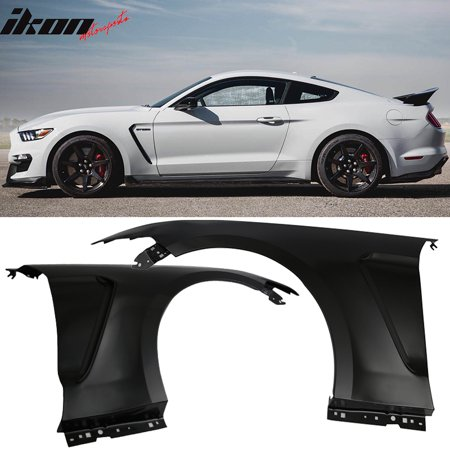 Ford Explorer Fender Trim (Fits 15-17 Ford Mustang GT350 Style Steel Fender Trim w Inserts Unpainted)