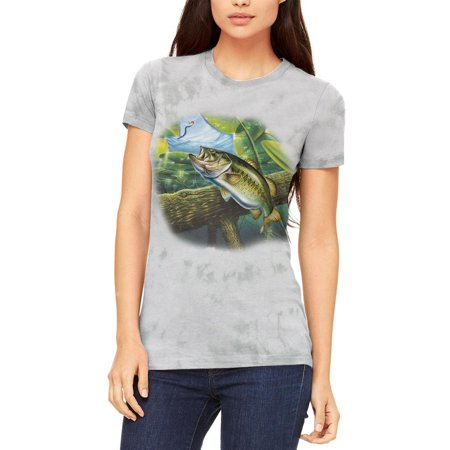 Action Bass Fishing Juniors Soft T Shirt Soft Green Triblend LG thumbnail
