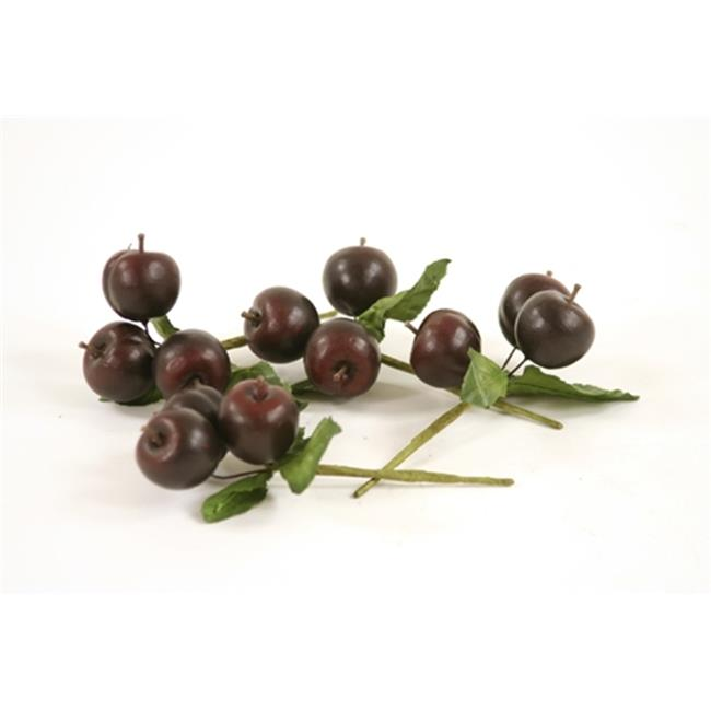 Distinctive Designs F-762 Fruit Juicy Plum Picks  Each with 3 Plums and Leaves - Pack of 12