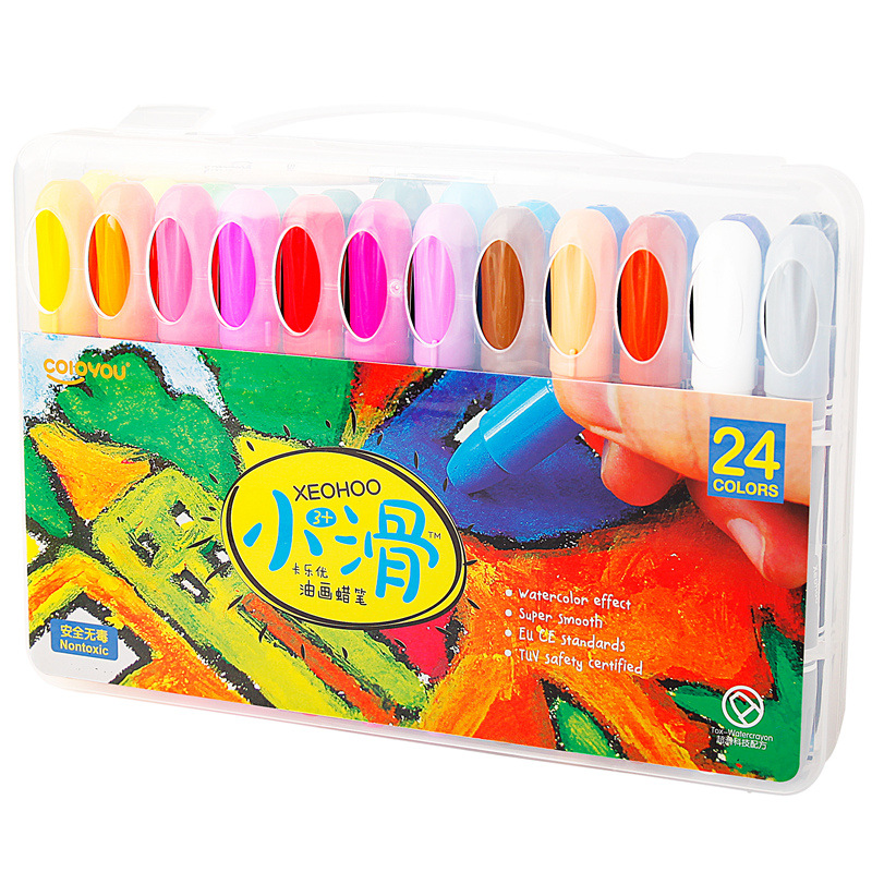 Nontoxic Oil Pastel Arts Twistable Washable 24 Assorted Crayons Party Favor