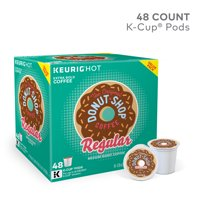 The Original Donut Shop Regular K-Cup Coffee Pods, Medium Roast, 48 Count for Keurig Brewers