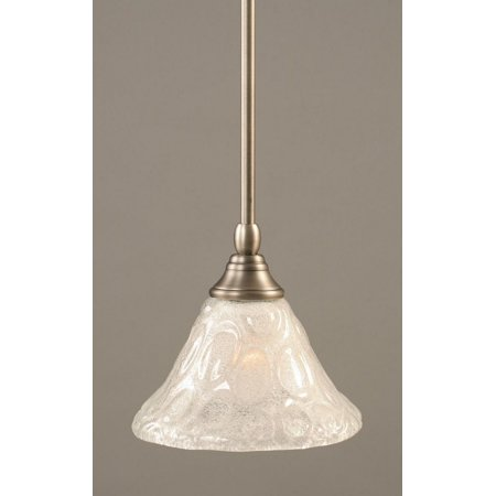 - Toltec Lighting-23-BN-451-One Light Stem Mini-Pendant  Brushed Nickel