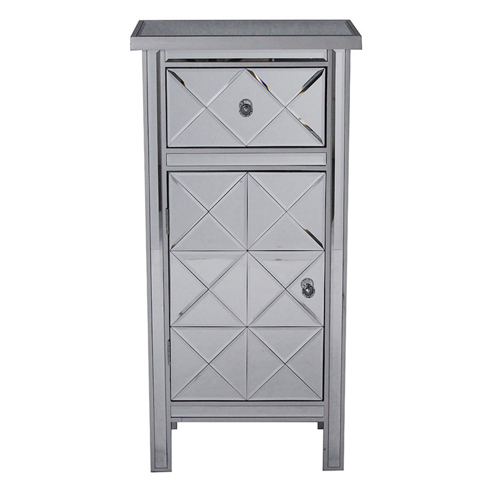 Heather Ann Creations Emmy Mirrored Tall Accent Cabinet