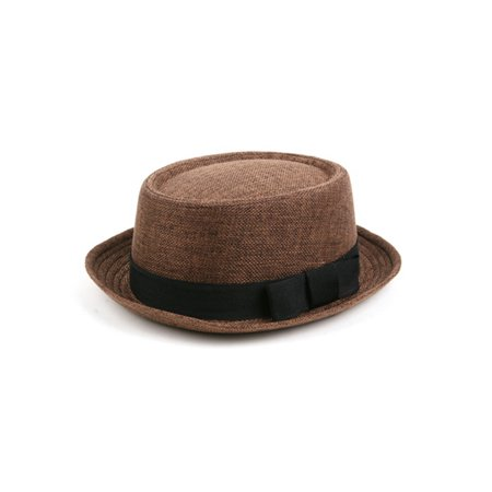 Golf Straw Fedora Hat (Porkpie Straw Fedora Hat 508HF)