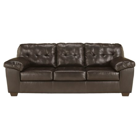 - Signature Design by Ashley Alliston Leather Sofa