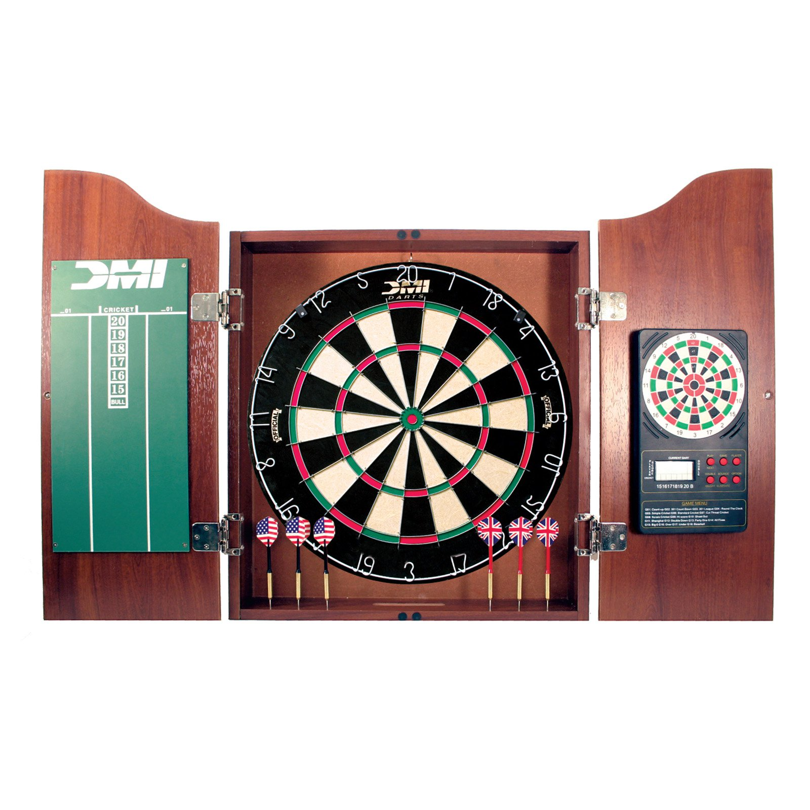DMI Darts Cherry Bristle Dart Board Complete Set