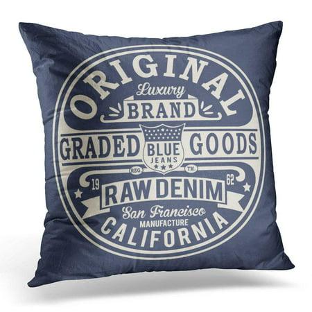 CMFUN Blue Francisco Vintage Denim Graphics San Pillows case 20x20 Inches Home Decor Sofa Cushion Cover ()
