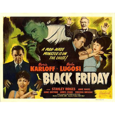 Black Friday (1940) Laminated Movie Poster Version 2-20 Inch By 30 Inch Laminated Poster With Bright Colors And Vivid Imagery-Fits Perfectly In Many Attractive Frames