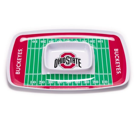 Bsi Products Inc Ohio State Buckeyes Chip And Dip Tray Chip And Dip Tray (Dip Tray)