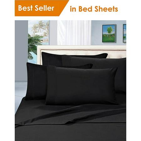 Elegant Comfort® 1500 Thread Count Egyptian Quality Microfiber Deep Pocket Bedroom Sheet Set, King Black