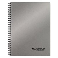 Mead Products 45007 Side-Bound Guided Business Notebook, Silver - 80 Sheets
