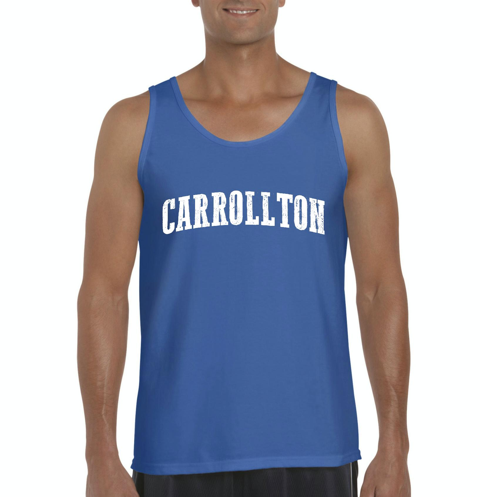 Carrollton TX Texas Flag Houston Map Longhorns Bobcats Home Texas State University Mens Tanks