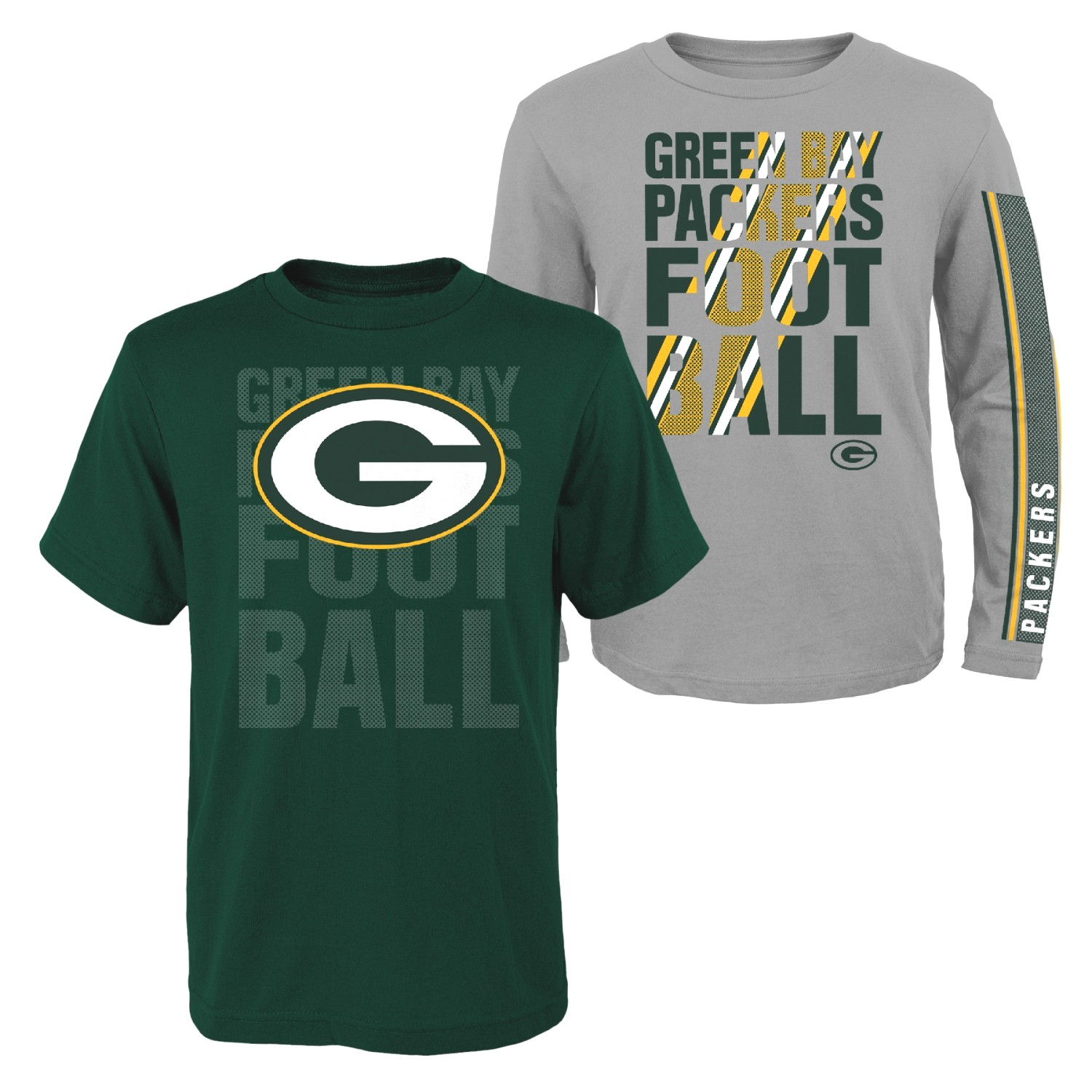 """Green Bay Packers Youth NFL """"Playmaker"""" 3 in 1 T-Shirt Combo Set"""