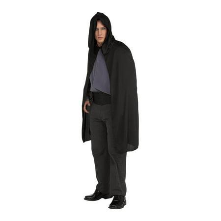 Black Hooded Short Knee Length Costume Cape