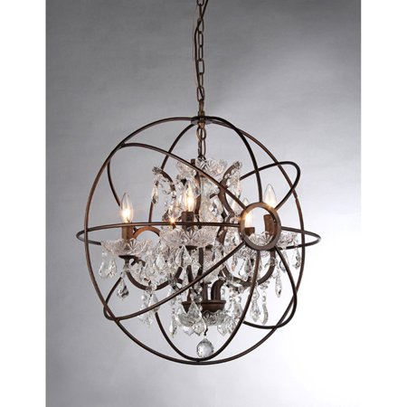 Warehouse of tiffany planet shaker ii rl8060b crystal chandelier