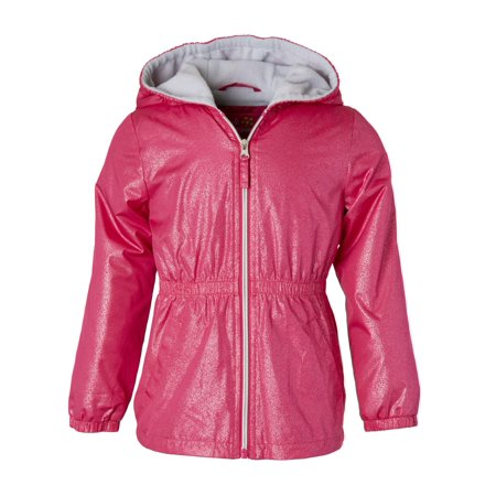 Fleece Girls Jacket (Spray Foil Print Anorak Jacket with Fleece Lining (Little Girls & Big)