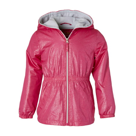 Spray Foil Print Anorak Jacket with Fleece Lining (Little Girls & Big Girls)](Girls Jacket)