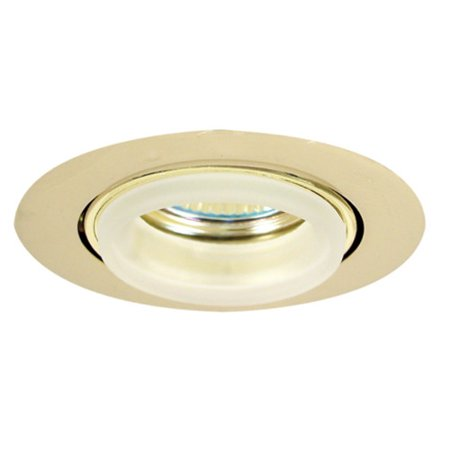 Elco E233 Mini MR16 Downlight with Diecast Gimbal Ring and Glass Ring (Diecast Gimbal Ring)