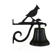 Montague Metal Products CB-1-25-SB Cast Bell With Satin Black Cardinal Ornament