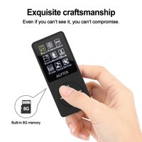 AGPtEK 1.8'' 8GB MP3 Player 70 Hours Playback, Lossless Sound Music Player Expandable Up to 64GB