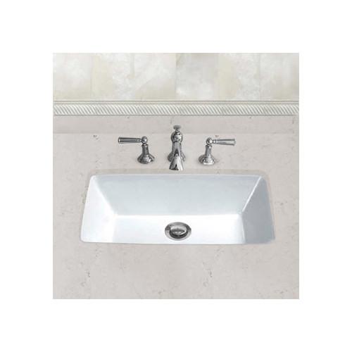 Hahn Ceramic Bowl Rectangular Undermount Bathroom Sink with Overflow