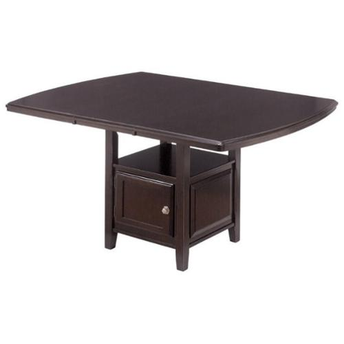 Ashley D520 32 Ridgley Dark Brown Counter Ht Extn Table With Storage Walmart Com Walmart Com