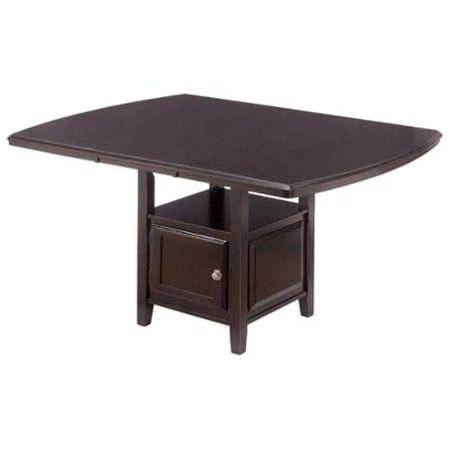 Ashley Ridgley Counter Height Extendable Dining Table In Dark Brown