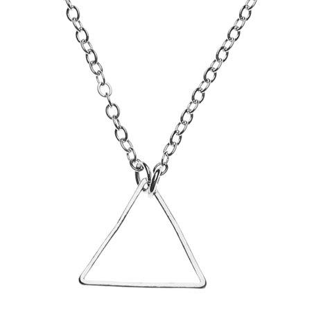 AkoaDa Women Triangle Choker Chain Charm Pendant Necklace Gold Silver Jewelry Trendy