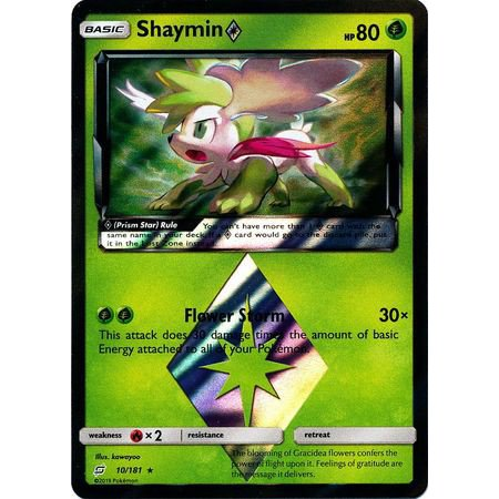 Pokemon Team Up Shaymin -Prism Star #10