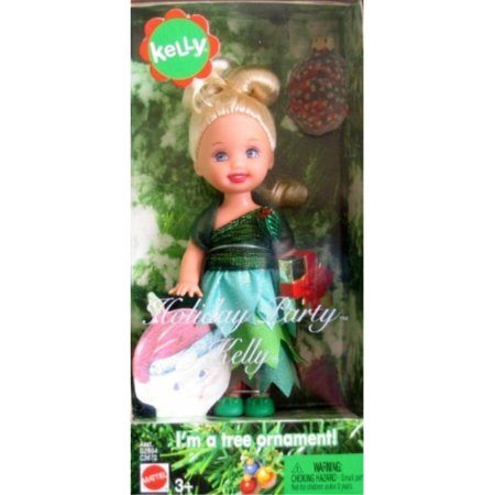 Barbie Kelly Holiday Party Kelly Doll Tree Ornament - Kelly Doll Halloween Party