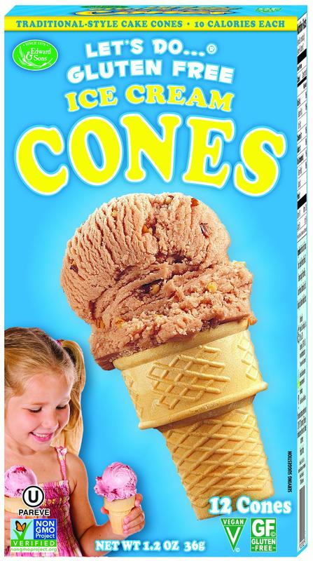 Let's Do Gluten Free Ice Cream Cones 1.2 oz by Edward & Sons