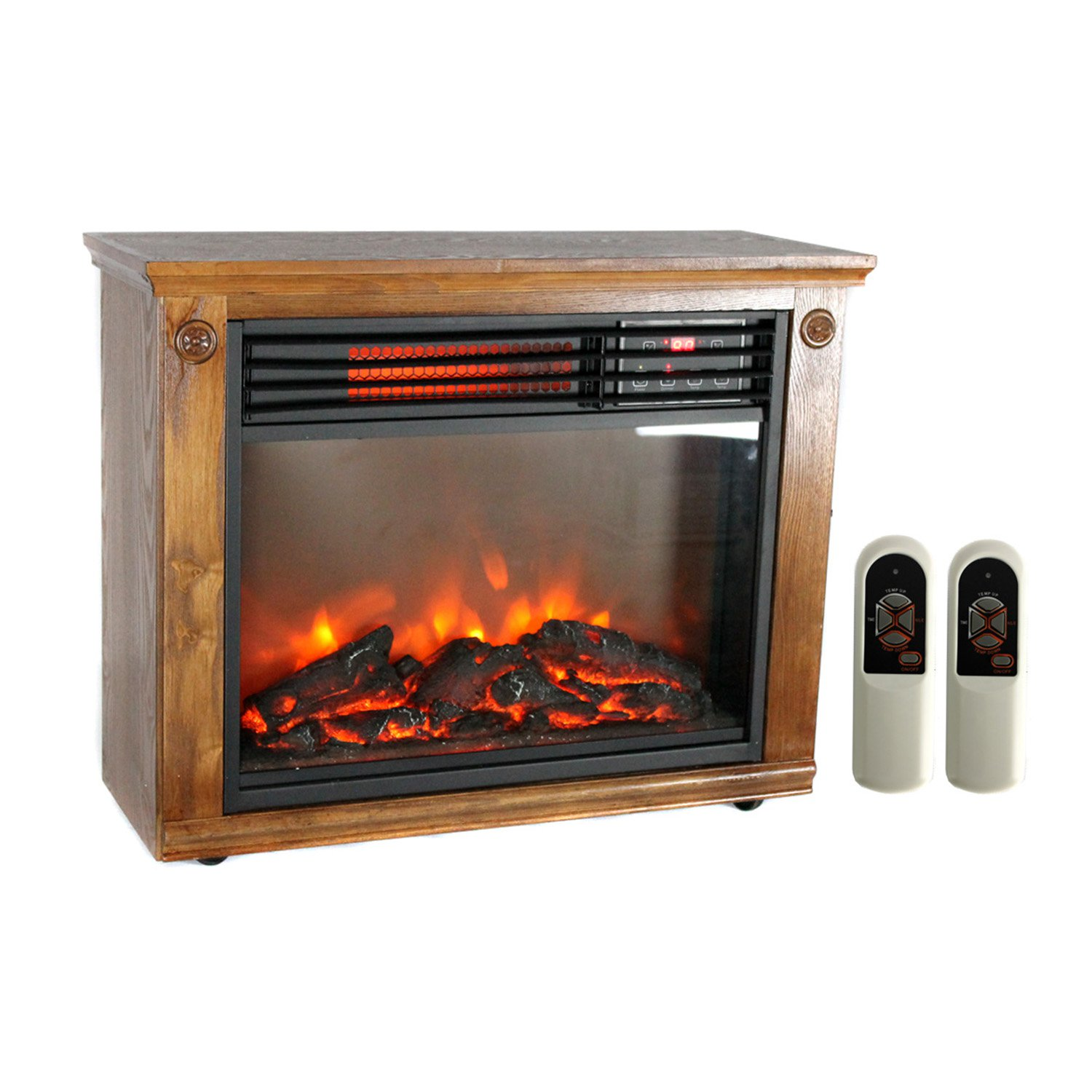 LifePro 3 Element Portable Electric Infrared Quartz Fireplace ...