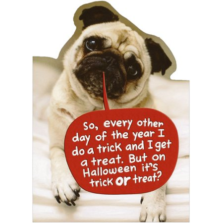 Recycled Paper Greetings Pug Do A Trick Funny Halloween Card from Dog](Halloween Crafts From Recycled Materials)