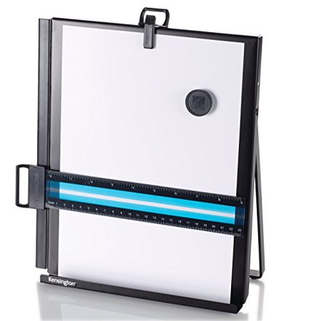 Copyholder with Line Guide - Adjustable easel stand folds magnet & paper -