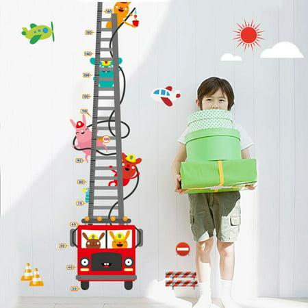- Fire Truck Height Chart Measure Wall Sticker Mural Decals Wallpaper Home Kids Room Decor